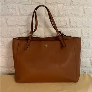 Authentic Tory Burch Tote Cognac Saffiano Leather